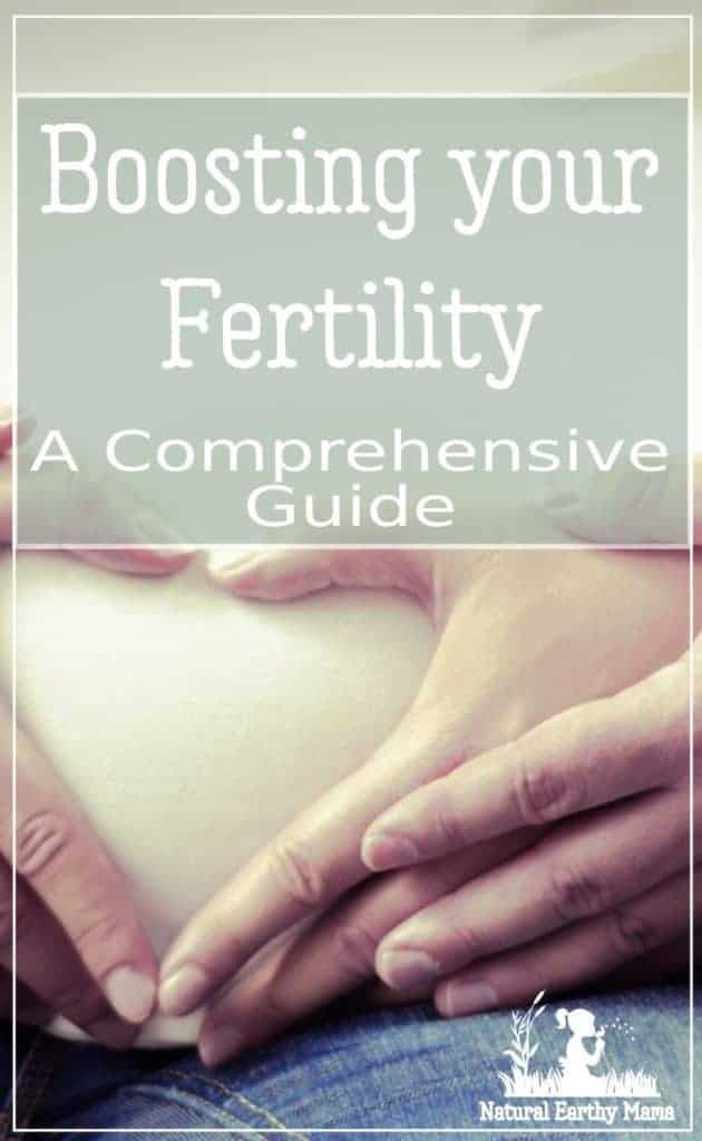pregnant belly with text overlay boosting fertility naturally