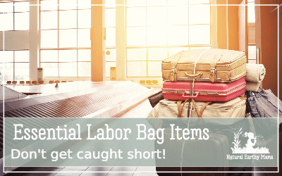 Here are the essentials that you will want to pack in your labor bag! From a mama that has been there and done that 3 times over! Hospital bag checklist for mom and baby: What to pack in your labor bag #labor #laborbag #pregnancy #newborn #gettingreadyforbaby #naturalearthymama