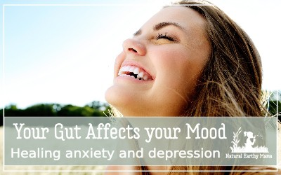 Did you know that your gut health can have substantial impact on your mood and mental health. Sudies show that up to half of anxiety and depression is caused by gut issues. #naturalearthymama #depression #anxiety #naturalcure #guthealth