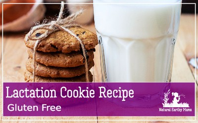 Try these delicious gluten free lactation cookies for a natural way of boosting your milk supply while breastfeeding #lowmilksupply #breastfeedingtips #lactationcookies #glutenfree #naturalearthymama
