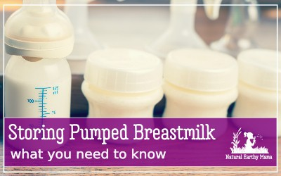 How to store pumped breastmilk when you have too much, or are returning to work, or simply need to store your breast milk safely. Follow these storage guidelines to keep the milk fresh and safe. #pumping #breastfeeding #returningtowork #mom #naturalearthymama