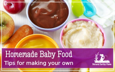Making your own baby food at home is the natural, frugal and affordable way of feeding and weaning your baby. Check out these delicious babyfood recipe ideas and how to save money feeding your child yummy homemade food #babyfoodrecipes #babyledweaning #weaningtips #naturalearthymama