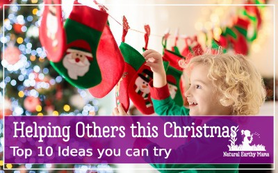 Helping others is the best skill that you can teach your children this Christmas. Here are 10 lovely ways that you can help to serve others, make some of them your holiday tradition #holidaytraditions #christmas #serving #holidays #christmasactivities #naturalearthymama