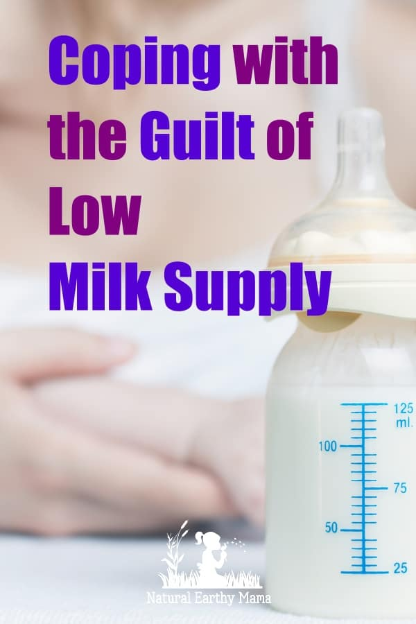 Living with low milk supply is just yet another mom guilt topics. You are not failing as a mom when you struggle with low breastmilk supply! #momencouragment #breastfeeding #breastfeedingtips #lowmilksupply #naturalearthymama