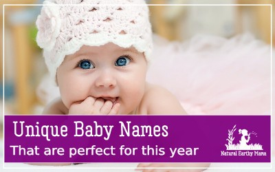 Choosing a baby name is one of the hardest things you will ever do. Finding a unique and special name just for your baby is a real challenge. Check out these perfect unique baby names chosen for you #babynames #naturalearthymama