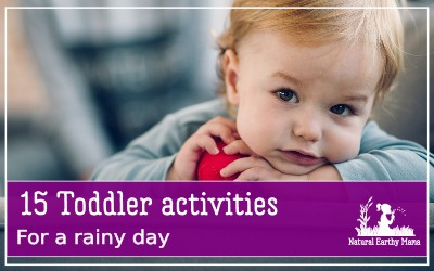 Keeping a toddler busy is so hard on a rainy day. Check out these rainy day activities that will keep your toddler entertained when they are stuck inside and bored #toddlertime #naturalearthymama