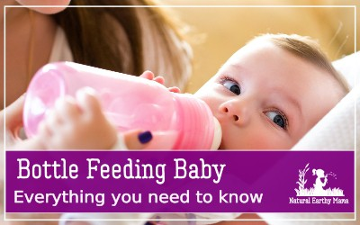 Bottle feeding babies isn't always supported, but here is all the information you need to know when choosing to bottle feed your new baby. #bottlefed #fedisbest #naturalearthymama