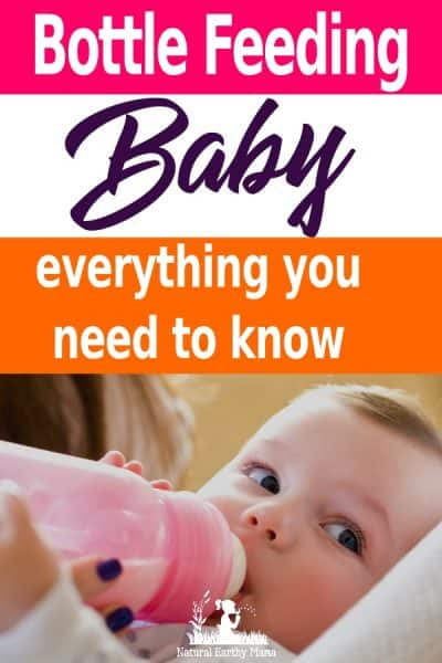 Bottle feeding babies isn't always supported, but here is all the information you need to know when choosing to bottle feed your baby. #bottlefed #fedisbest #naturalearthymama