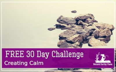 Join our free 30 day creating calm challenge today! Find peace and reduce stress, explore minimalism and learn tips and techniques that will improve your mood and your life #naturalearthymama
