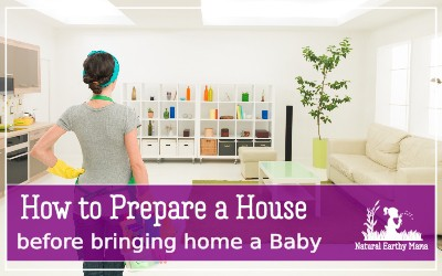 Are you getting ready to bring home baby? Check out these tips for cleaning your house before your newborn arrives. These hacks will get your house ready for postpartum relaxing and enjoying your new baby without stress. Tips and checklist for deep cleaning your home #newborn #pregnancy #deepcleaning #naturalearthymama