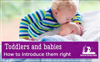 Introducing your toddler or child to your newborn baby. Here are some tips to make the first meeting of your baby and your toddler go smoothly #toddlers #newborns #naturalearthymama