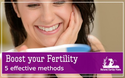 Struggling with infertility is not fun. Here are 5 proven and effective ways that have been shown to improve your overall health and boost your fertility. Women with PCOS, unexplained infertility or just trying to conceive will find this information helpful! #naturalearthymama