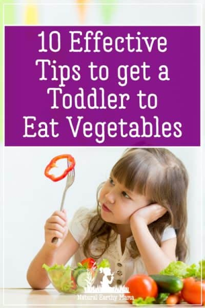 Getting a toddler to eat vegetables can be a real parenting challenge. Try these great tips to help encourage your preschooler to eat healthy food. Children will love these colorful ideas for healthy eating #naturalearthymama