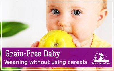Weaning a baby without grains. Paleo babies and keto babies are becoming more common. Here is why I avoided grains when weaning my children #naturalearthymama