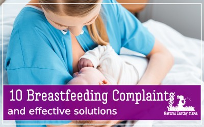 Only 40% of all infants are breastfed during the first six months of their lives. This number is often surprising but has a lot to do with lingering breastfeeding problems that are unable to be resolved.This guide is going to offer a peek into the ten most common breastfeeding problems and how to fix them easily so that your breastfeeding journey can be easy and fulfilling for both you and baby. #naturalearthymama