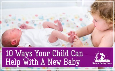 If you are having a new baby, there are plenty of tips for getting your older children involved with your new baby. Introducing your toddler to the new baby is easier when you have some tasks that your kids can help out with. #naturalearthymama