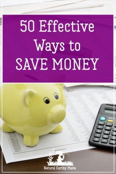Dealing with a tight budget and need to cut corners? If you would like to save more money while sticking to the budget you have set, follow these 50 simple and effective tips to save money that truly work.These saving money tips are practical and easy to implement. Frugal living tips#naturalearthymama
