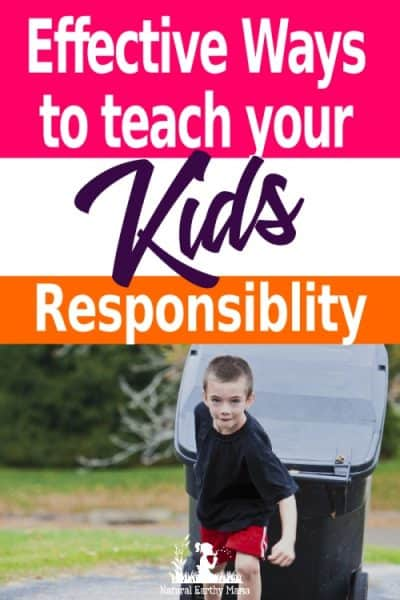 Responsibility isn't genetic and has to be taught. Sadly it is not something you can simply inherit. Teaching your kids to be responsible is a life long process, but these parenting tips on doing it successfully will help make it easier for you! #naturalearthymama