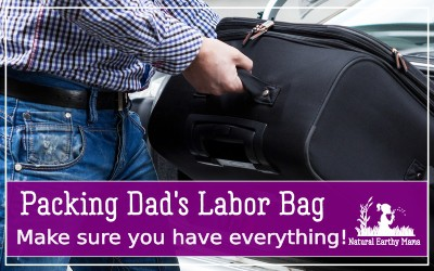 Is your partner about to have a baby? Are you preparing for labor? One good tip for a labor is making sure dad has a good labor bag packed ready to last the distance. Here is a labor bag list for all the expectant fathers #naturalearthymama