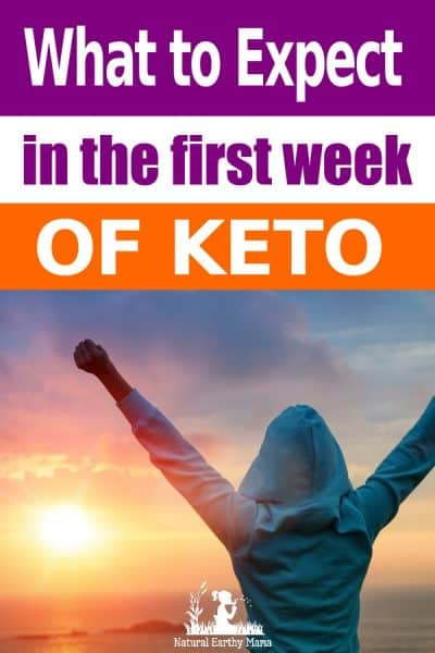 Starting the keto diet can be both exciting and nerve-racking at the same time. I know I was nervous as I wasn't sure how my body would react. I had read about the keto flu, and I was super nervous that this would happen to me. This may differ from your own experience and the experiences of others. This is what to expect on keto in week one, based on my own experience. #keto #naturalearthymama